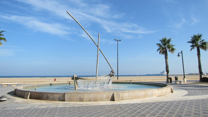 Valencia is often described as having its back to the sea.  There is a perfectly good beach there, easily reached from the city.