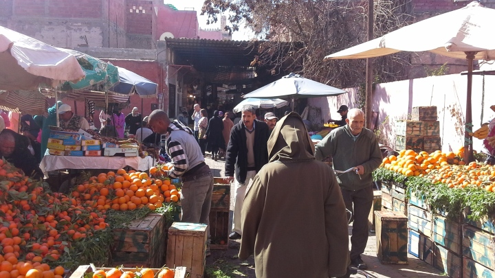 Shopping for fruits and spices in Marrakesh