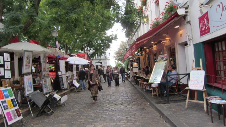 More touristy side of Montmartre