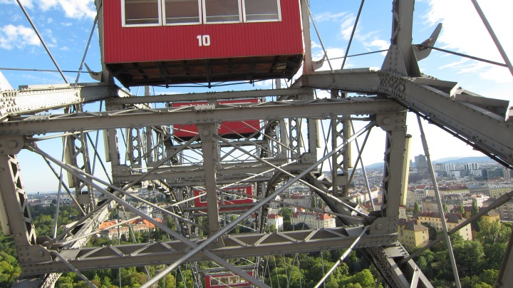 a closer look at 'third man' Ferris wheel.  It was my favourite thing in Vienna.