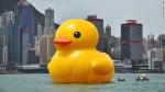 Rubber duck in Hong Kong.  Pic credit: CNN