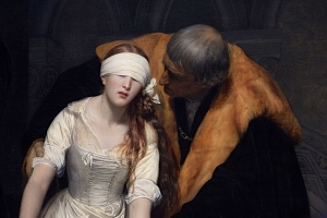 My favourite picture from the National Portrait gallery tour, this shows Lady Jane Grey, briefest monarch in British history, meeting her executioner.  It is, I feel, a rather romantic interpretation of the truth.