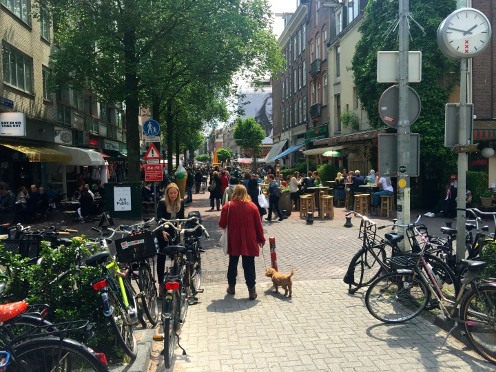 Albert Cuypmarkt; it gets busier later in the day.  Great Falafels