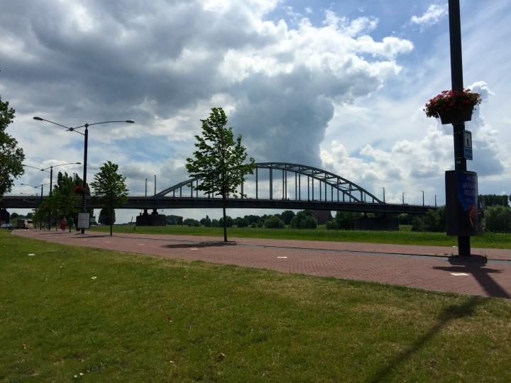John Frost bridge, replacing 2 earlier bridges that were both blown up