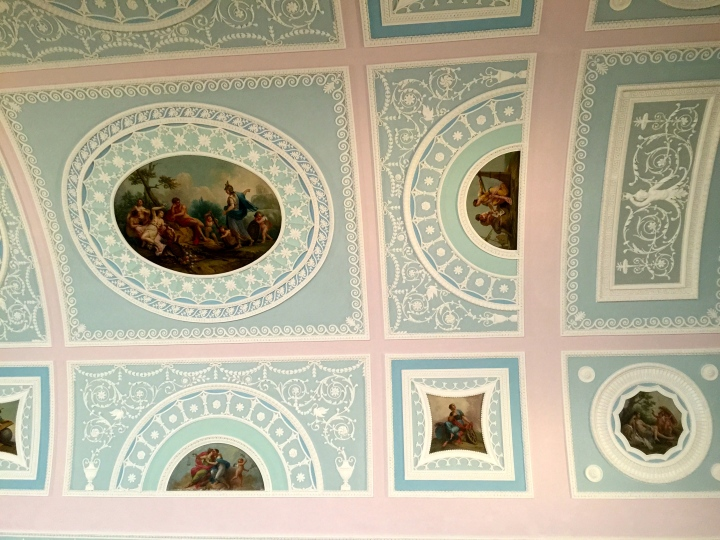 The ornate roof in the library at Kenwood House in Hampstead Heath.  I wandered in this week to escape the heat.  That's how old I