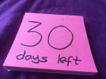Still numbering my remaining days in London..