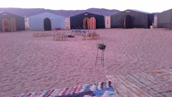 Sahara Dessert, another place not to be travelling with a wheelie bag