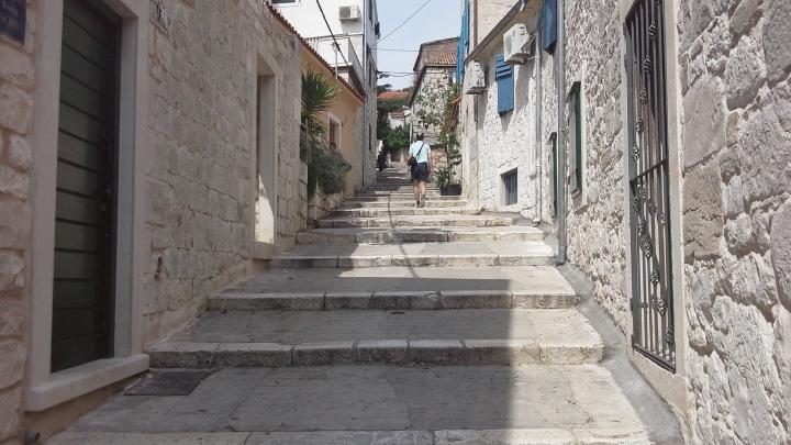 Croatia, not ideal for a wheelie bag...
