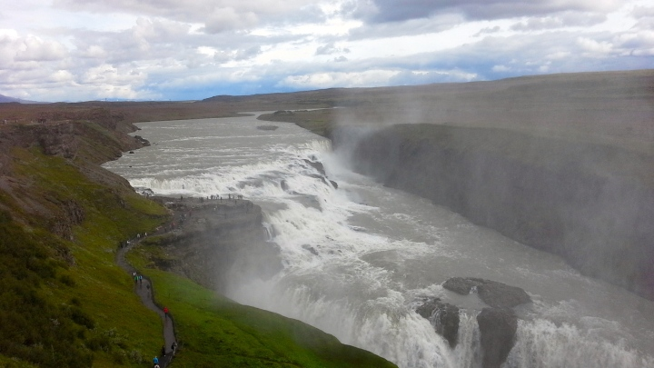 'Golden Falls' (Gullfoss in Icelandic.