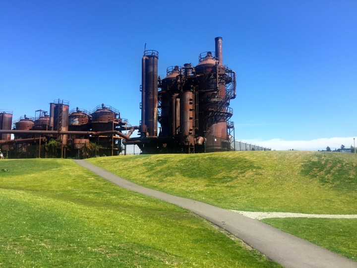 This is called Gasworks park; I'll leave you to figure out why.