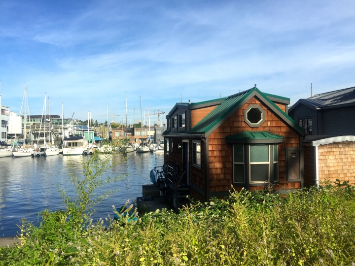 Someone tried to point out which of these houseboats featured in the movie Sleepless in Seattle, but I couldn't get which one they were pointing at.  I've never seen the movie (I hate rom-coms) but might mean something to some of you