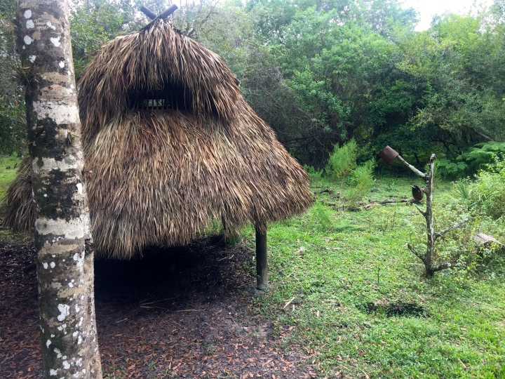 A cheekie, or traditional hut. They have huts like this so that you can stay overnight in the reservation.