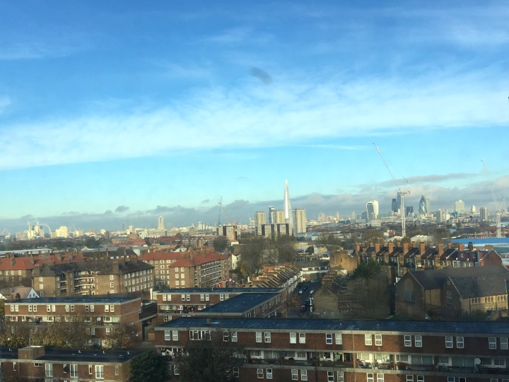View from my window: A few new cranes but otherwise unchanged.