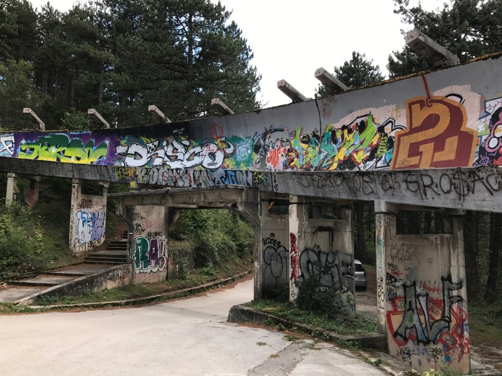 Sarajevo abandoned Olympic Bobsleigh