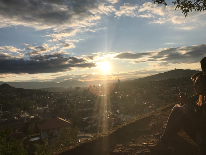 view from yellow fort Sarajevo